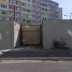 po oprave steny  trafostanice a vymaľovaní