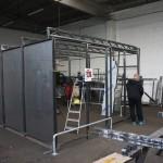 Skúška konštrukcie stojiska na mieste výroby, september 2017