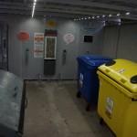Kontajnerové stojisko zvnútra, december 2017