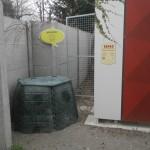 Bioodpad tvorí cca 30% odpadu, preto je tu aj kompostér, december 2017