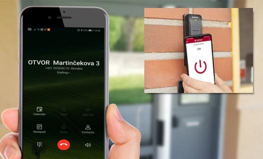 otvárajte dvere mobilom