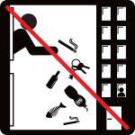 Nevyhadzujte odpadky, cigaretové ohorky a kľúče z okna!