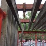 Kontajnerové stojisko pred rekonštrukciou